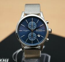 NEW HUGO BOSS 1513441 MENS STAINLESS STEEL MESH BLUE DIAL JET MENS FASHION WATCH
