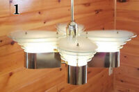 VINTAGE RETRO MID CENTURY ATOMIC SPACE AGE CHANDELIER CEILING LIGHT FIXTURE