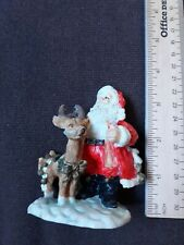 🌟 Christmas Village Santa And Reindeer Figure (L4)