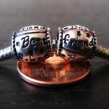 2PCs Best Friend European Charm Beads For Large Hole Style Charm Bracelets