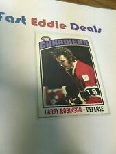 TOPPS HOCKEY 1976-77 LARRY ROBINSON CARD 151 MONTREAL CANADIENS EXCELLENT