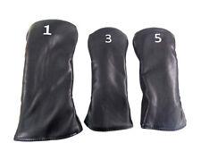 NEW Custom Universal Black/White Driver/Fairway Wood Headcover Combo Set
