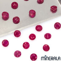 [WHOLESALE] NATURAL BURMA RUBY GEMSTONE FACETED ROUND SHAPE 4mm-5mm LOOSE STONES