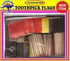 Belgium flag toothpicks for cooking cupcakes cocktails & party
