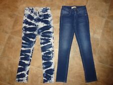 2 Pair Girl's Mudd Skinny Soft Knit Like Super Stretchy Jeans/Pants Size 10