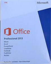 Microsoft ® Office 2013 professional versione completa licenza duratura Key ML tedesco