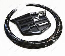 "Black Cadillac Wreath Crest 4"" Rear Tailgate Truck 3D Logo Emblem Badge Sticker"