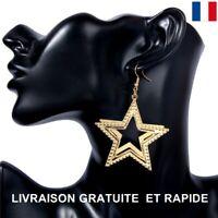 Boucle D'oreille Etoile Cadeau Bijoux Femme Anniversaire Soirée Mariage Mode