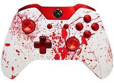 """Blood Splatter Chrome"" Xbox One Rapid FIre Modded Controller 35 MODS Snip"