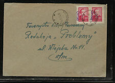 Poland   overprnted stamps on cover      KL0309