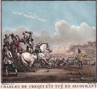 Gravure XVIIIe Charles De Créquy Passage De Suse Breme Lombardie Tornavento