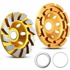 2 Pieces Diamond Cup Grinding Wheel, Include 4-1/2 Inch 644030 Double Row Grindi