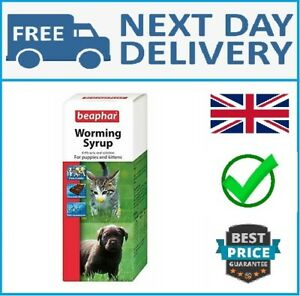Beaphar Worming Syrup 45 ml - For Pet Cat Dog Kitten and Puppy