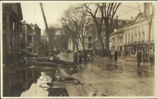 Montpelier VT 1927 Flood Street Scene CRISP IMAGE Real Photo Postcard