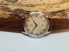 USED VINTAGE 1952 OMEGA SUB SECOND HONEYCOMB SILVER DIAL FANCY LUGS MAN'S WATCH
