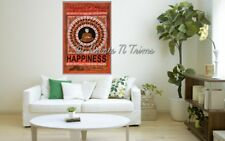 Buddha Happiness Tapestry Peace Wall Hanging Hippie Poster Size Flag