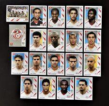 Panini FIFA World Cup Germany 2006 Complete Team Tunisia + Foil Badge