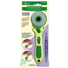 Clover 60MM Round Blade Rotary Cutter With Soft Cushion Handle #7502