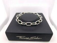 Thomas Sabo TA1116S Sterling Silver Opening Link Charm Bracelet 18.5cm RRP $249