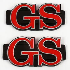GS , 2x metal pillar badges chrome, Brand New, for Mazda Rotary Rotor RX3 RX-3