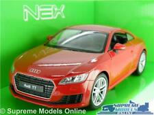 AUDI TT COUPE MODEL CAR 1:24 SCALE RED WELLY OPENING PARTS LARGE 2014 K8