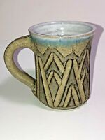 Handcrafted Pottery Mug 8 oz Signed JD Cool Mountain Look! See Pics, make offer!