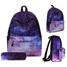 Canvas Galaxy Backpack Starry Sky Rucksack Travel Sport Bag Women Men School Bag