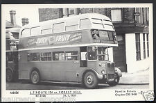 London Bus Postcard - L.T.Route 124 at Forest Hill in 1951 - BH2218