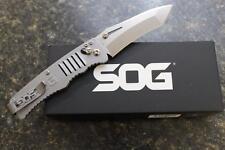 NEW SOG TG1001-BX Targa Folding Knife Japanese VG-10 Satin Tanto Blade Arc-Lock
