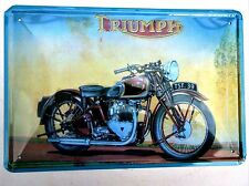 TRIUMPH DESIGN 2 METAL TIN SIGNS vintage cafe pub garage decor retro kitchen