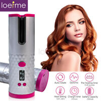 Cordless Auto Rotating Ceramic Hair Curlers USB Rechargeable Hairs Curling LCD