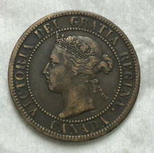 Canada 1893 Repunched 9 Large One Cent 1 Cent VF