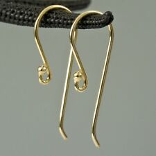 24K Gold Vermeil 925 SILVER Hang-in Hook Earring Findings Pair Gold-Plated 0.62g