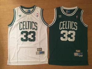 NWT Larry Bird #33 Boston Celtics Green OR White Throwback Swingman Men's Jersey