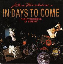 "JOHN FARNHAM In Days To Come PICTURE SLEEVE 7"" 45 record + juke box title strip"