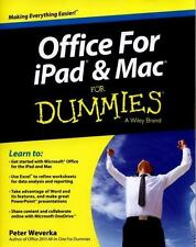 Office for iPad and Mac For Dummies, Weverka, Peter, Good Condition, Book