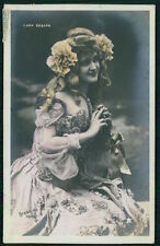 Gaby Deslys 1st nude Stripper Theater edwardian lady old 1910s photo postcard a2