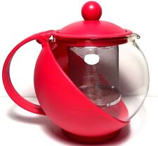 TeaPot Glass Steel infuser / Tea Leaf Strainer Filter 750ml