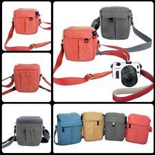 UK B50 Small Canvas Digital DSLR Camera Lens Shoulder Case Bag for Nikon Canon