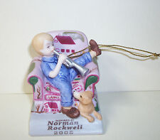 Norman Rockwell Trumpeter Christmas Ornament 2005 Dave Grossman Brand New