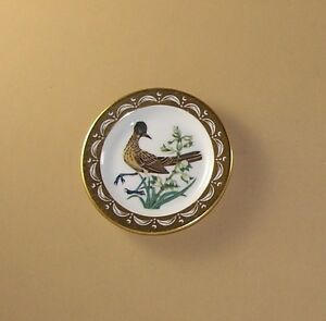 State Birds and Flowers Miniature Mini Plate NEW MEXICO Road-runner Yucca