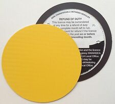 magnetic tax disc holder YELLOW carbon fibre Fit fiat bmw golf clio f-type ds 3