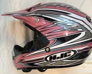HJC CL-X5 LIKE NEW Women's Snowmobile Helmet Pink/Black Small