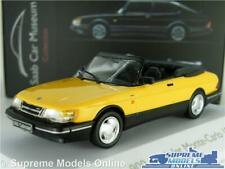 SAAB 900 CABRIOLET MODEL CAR MUSEUM 1987 YELLOW 1:43 SCALE IXO ATLAS 3898004 K8
