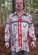 Men's horse print ribbon shirt size 3X powwow regalia FREE SHIPPING