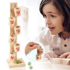 Baby Clown Pattern Wooden Blocks Tree Marble Ball Run Track Game Kids Toys
