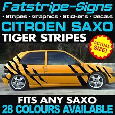 CITROEN SAXO GRAPHICS TIGER STRIPES CAR VINYL DECALS STICKERS VTR VTS 1.4 1.6