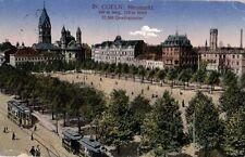 21605/ Foto AK, Köln, Neumarkt, Straßenbahn, 1916