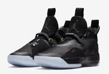 Air Jordan XXXIII 33 Black Blackout Mens Size 18 Basketball Jumpman 23 Logo Fly
