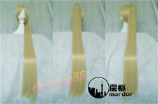 vocaloid Akita Neru full cosplay wig blonde wig with one horsetail party wig